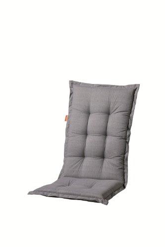 Madison A046 Hochlehner Auflage Basic Grey, ca. 123 x 50 x 8 cm, grau