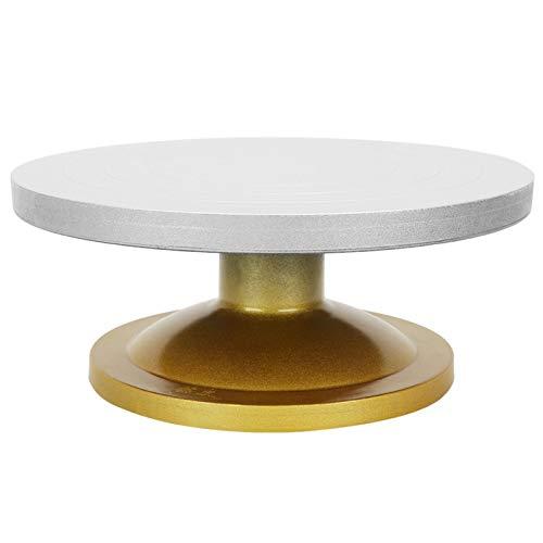 Plateau tournant de poterie, Machine en céramique en métal Delaman roue de poterie Table rotative plateau tournant en argile modélisation Sculpture outils en céramique(30cm)
