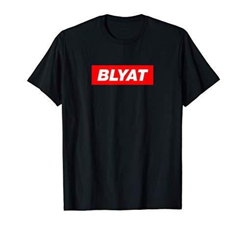 Blyat rote box Russisch Russen Russland Bratan Geschenk T-Shirt