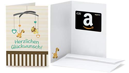 Amazon.de Geschenkkarte in Grußkarte - 20 EUR (Baby Glückwünsche)
