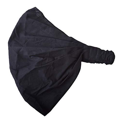 Casualbox Bandana für Damen, Baumwolle, Haarband/Schal, Kopfbedeckung, dehnbar Gr. Einheitsgröße, Schwarz