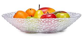 Bol de cristal grueso de 40cm frutera de cristal grueso, Bowl cristal