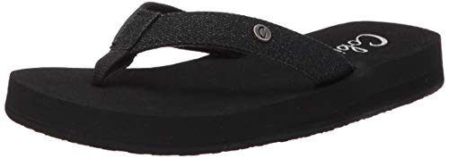 Cobian Women's Cancun Bounce Black Flip Flops, 9