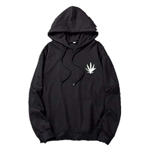 KKTT Herren Langarm Pullover Sweatshirt schwarz XL