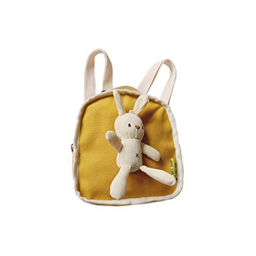 Tendycoco rugzak voor meisjes, motief: haas, creatief, leuk, modieus, reistas, schooltas, rugzak voor reizen, camping, winkelen, roze 22 * 18 cm Geel.