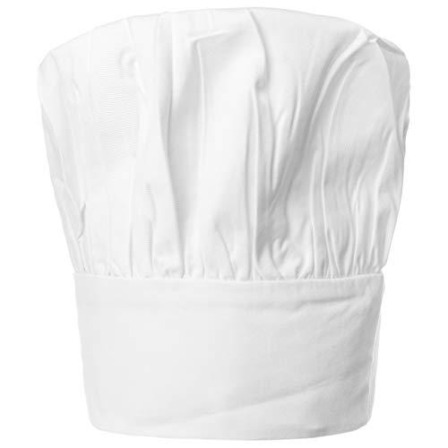 Hutshopping Kochmütze Küchenmütze Gastromützen Kochhaube Klettverschluss, Weiß, Einheitsgröße