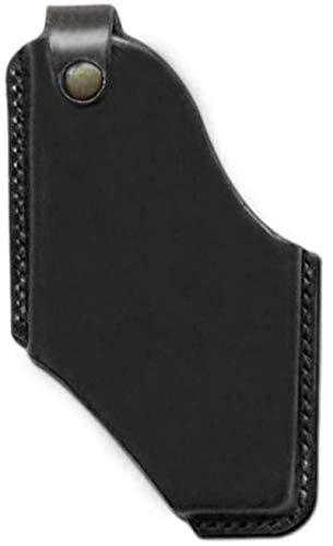 Handy Leder Gürtel Packtasche, ultradünne Gürteltasche Smartphone Holster Tasche mit Magnetverschluss, für Männer Sport Travel Camping Schwarz