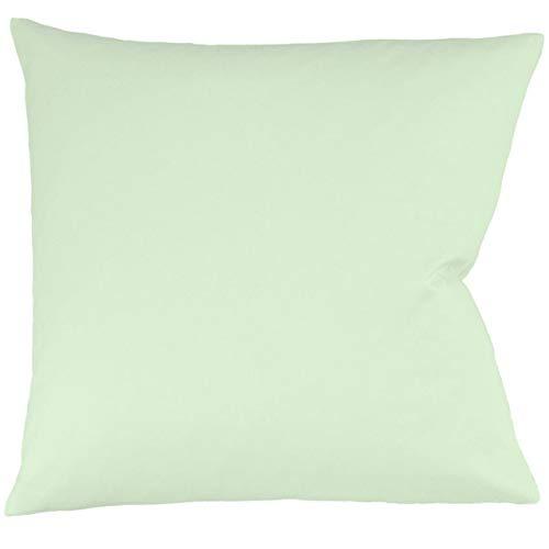 fleuresse Interlock-Jersey-Kissenbezug Uni Colours pastellgrün 7059 Größe 40 x 40 cm