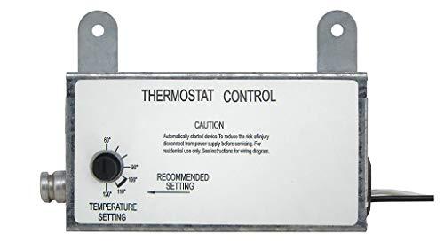 Iliving ILG-002T Fan Thermostat Control Box, 8, Silver