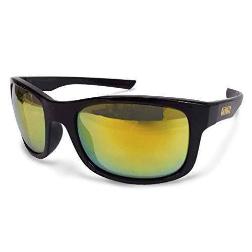 Radians DeWalt Supervisor Occhiali di sicurezza, montatura nera con lenti a specchio giallo