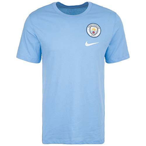 NIKE Manchester City FC Evergreen Crest Camiseta de fútbol, Unisex Niños, Azul (Pure Platinum/Cool Grey/Black), S