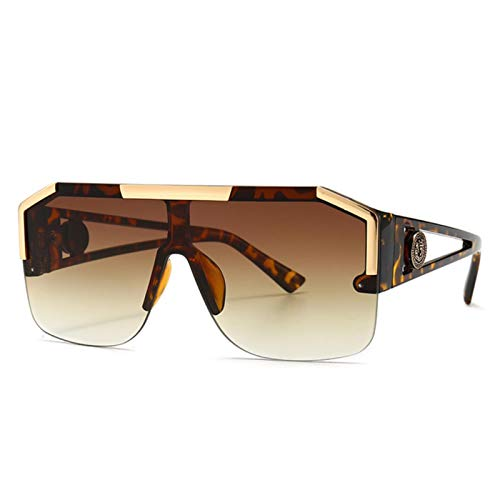 UKKD Gafas de sol Fashion Big Square Sunglasses Hombres Estilo Degradado Conducción Retro Diseño Gafas De Sol Uv400