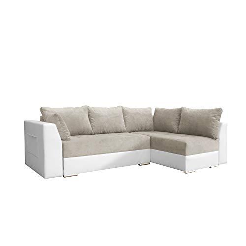 Canapé d'angle Beige Tissu Design Confort