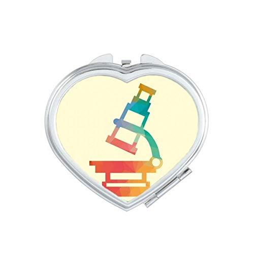 DIYthinker Cartoon Microscope Chemie Patroon Hart Compact Make-up Spiegel Draagbare Leuke Hand Pocket Spiegels Gift