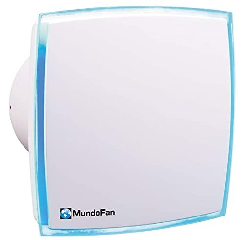 Mundofan Aludecor-MU Extractor de baño Temporizado con luz LED, 125 mm de Diámetro