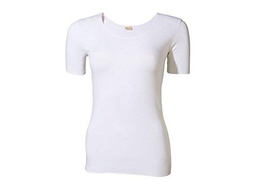 Jolinesse Damen Unterhemd mit Klimafunktion und 1/4 Arm S 36/38 Weiss