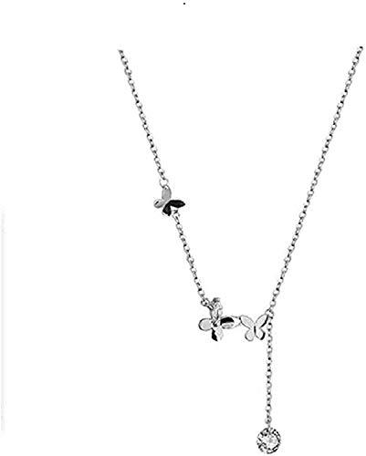 huangxuanchen co.,ltd Collar Collar Estilo De Cuento De Hadas Lindo Collar De Microconjunto De Mariposa Pequeña Tendencia Dulce Regalo Romántico Niñas Niños Collar