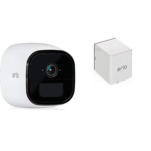 Arlo Go Überwachungskamera, kabellos, mobil, Innen/Außen, HD, 3G/4G-LTE, wetterfest, Nachtsicht, 2-Wege-Audio & Arlo Go Wiederaufladbare Batterie, geeignet für Arlo Go Überwachungskamera
