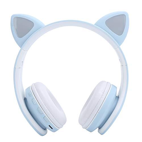 Germerse Auriculares LED, Reduccin de Ruido Estilo Encantador ABS Bluetooth 5.0 Auriculares Bluetooth Ligeros porttiles, Adultos para Llamadas Nios Regalos Msica