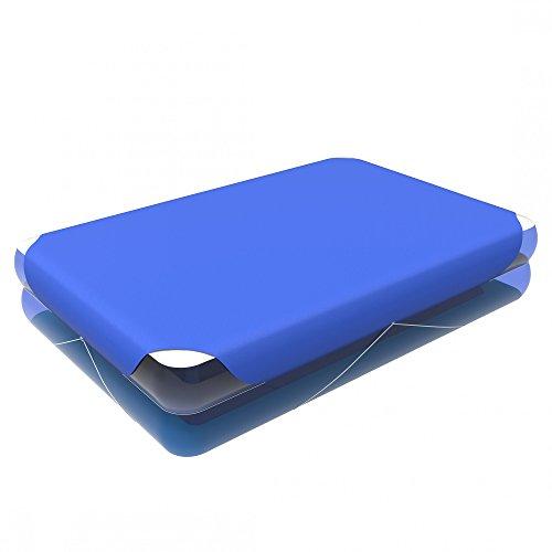 Jilong PC Couverture pour Piscine Giant 262 x 175 cm, Dimensions totales la poolabdeckung 285 x 203 cm, Bleu, 57009