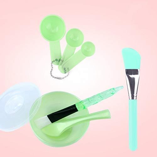 Drametree Fait maison bricolage masque outils avancée masque de silicone bol bâton cuillère Set salon de beauté bol * 1 + spatule * 1 + brosse * 2 + jauges * 3 (Color : Vert, Taille : D)