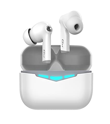 Hecate GM3 True Wireless Earbuds -60ms Low Latency - PixArt Bluetooth 5.0 Auto Pairing - IP55 Water Proof-Touch Enabled-White