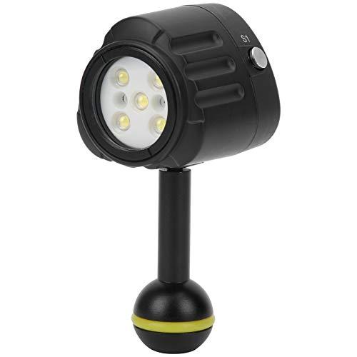 Dilwe SL‑18 Antorcha de Buceo Impermeable para Fotografía Subacuática, Luz de Relleno LED a Prueba de Agua de 40 Metros Profundidad de Alta Potencia, 7500K Luz LED Submarinismo