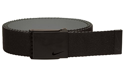 NIKE Men's Standard New Tech Essentials Reversible Web Belt, black/Charcoal, One Size