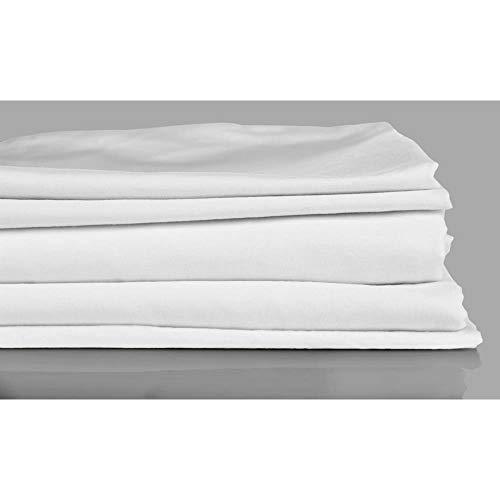 Laken zijdezacht, Katoen, Kreukvrij, Bedlaken, 200 x 260 Wit