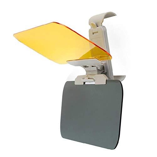 Reuvv Auto Sonnenblende Verlängerung Tag und Nacht Dual-Use Sonnenblende Verstellbar Praktisch Auto Blendschutz Fahren HD Visier, Tag und Nachtsicht Ösen Schutz Anti-blend Windschutz Verlängerung