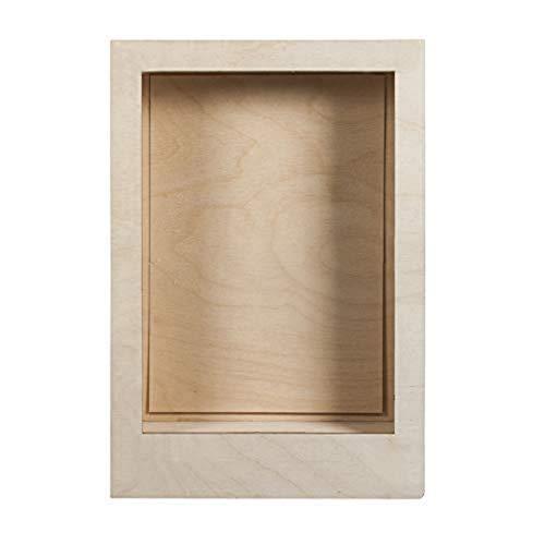 Rayher Kit Cornice Legno, Naturale, 20x30x6,6cm