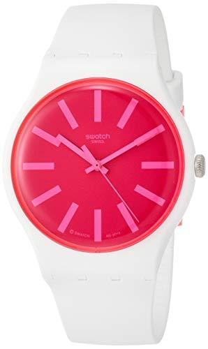 Swatch Reloj Analógico para Mujer de Cuarzo con Correa en Silicona SUOW162