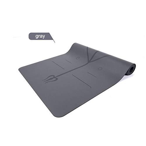 5mm slip mat natuurrubber yogamat yoga mat Pilates oefeningen online fitness Mats PU Position,grijs