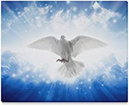 Wall Art Painting Holy Spirit Bird Flying In Sky Bright Light Shines From Heaven Pattern Prints On Canvas The Picture Landscape Pictures Oil For Home Modern Decoration Print Decor For Living Room