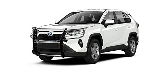 Modular Grille Guard Black Horse 17A093904MSS Stainless Compatible with 2019-2021 Toyota RAV4