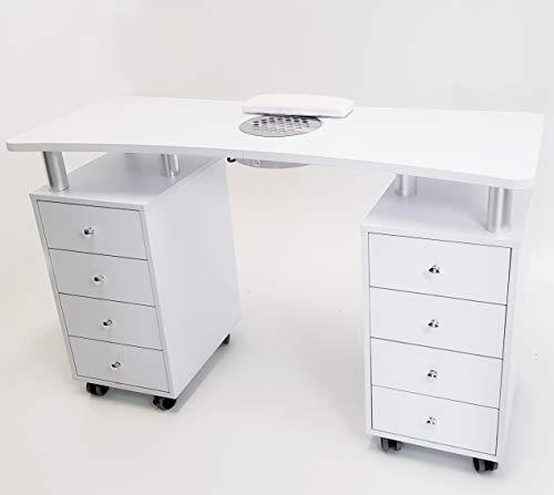 Nageltisch Maniküre 8 Schubladen mit Absaugung elektrischer Filter Nail Set Rekonstruktion Tisch Profi Nailart
