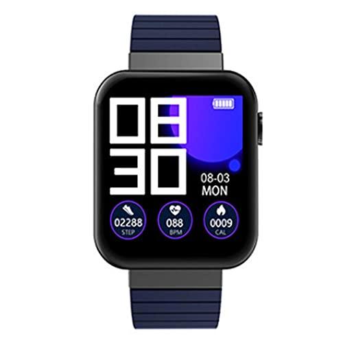 ZHBH Monitor de Actividad física con Pantalla a Color, Pulsera Inteligente IP67 a Prueba de Agua, Monitor de frecuencia cardíaca, Monitor de Actividad con podómetro, notificación por SMS para Ban