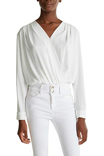 ESPRIT Collection 030EO1F315 Bluse Damen, Weiß (110/OFF WHITE), 40
