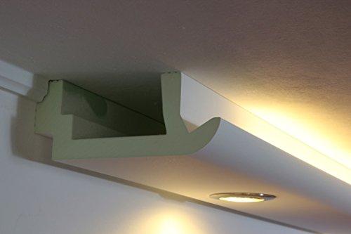 LED Stuckleiste indirekte Wandbeleuchtung und Deckenbeleuchtung – Stuck- und Licht-Profil aus Hartschaum 200x82mm WDKL-200A-PR von BENDU