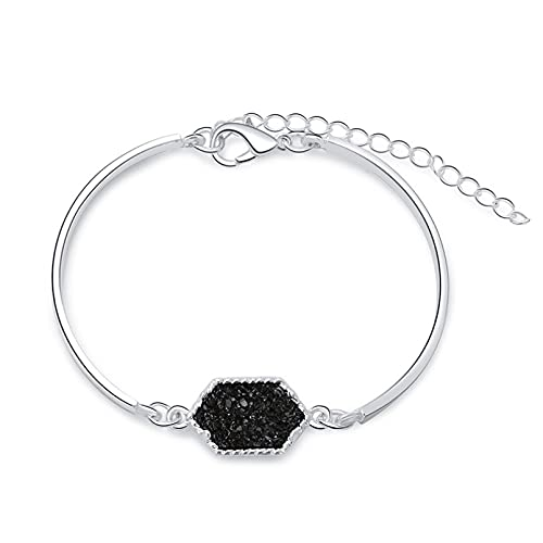 N/A Accesorios para Hombres y Mujeres Pulsera de Mujer Simple imitación Piedra Natural Diamante racimo joyería joyería Aniversario de Bodas día de la Madre Regalo de cumpleaños de Navidad