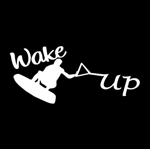 Wakeboard Water Skiing Decor Car Styling Vinyl Car Sticker 17.1CM * 7.5CM 2 Piezas