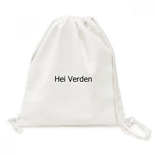 DIYthinker Hallo Welt norwegische Sprache Canvas-Rucksack Reisen Shopping Bags