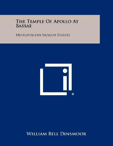 The Temple Of Apollo At Bassae: Metropolitan Museum Studies