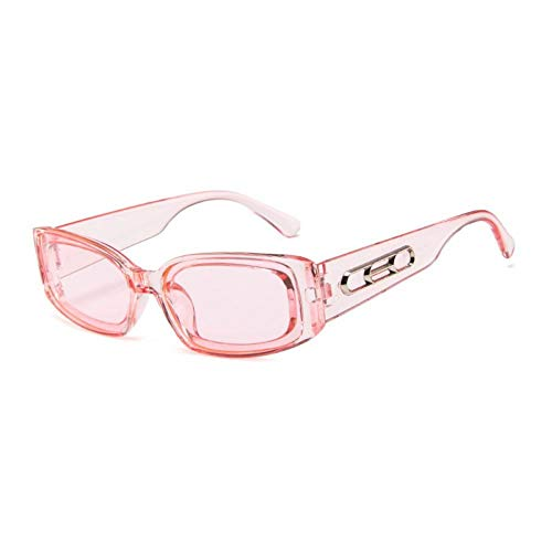 ZZOW Gafas De Sol Rectangulares De Moda para Mujer, Gafas De Sol Cuadradas para Hombre, Gafas De Sol Grises, Azules, Rojas Y Rojas, Gafas Uv400