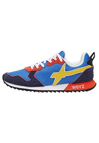 sneakers uomo wizz w6yz Jet-M.-Sneaker in Tessuto Tecnico e Suede-Navy-Azzurro Azzurro 40