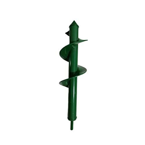 DOITOOL 1 Pz Trivella da Giardino Coclea per Piantare Coclea da Giardino Spirale Trapano Punta a Bulbo Coclea per Fioriera Albero Mano Cordless Trapano Terreno Buco di Scavo Buche (Verde 8X30 Cm)