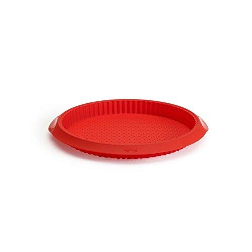 Lékué 1211329R01M033 Plat de Quiche Silicone Rouge 28 cm