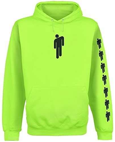 Eilish, Billie Logo Männer Kapuzenpullover Lime M 80% Polyester, 20% Baumwolle Band-Merch, Bands