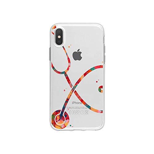 Funda de silicona suave para iPhone 8 7 Plus Cute Doctor Nurse Medicine Health Case para iPhone XR 6 6S Plus SE XS MAX-A203810-para iPhone 5 5S SE