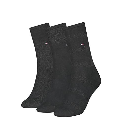 Tommy Hilfiger Womens Sparkle Women's Gift Box Classic Sock, Black, 39/42